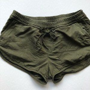 Aritzia Community Olive Green Habitus Shorts | M